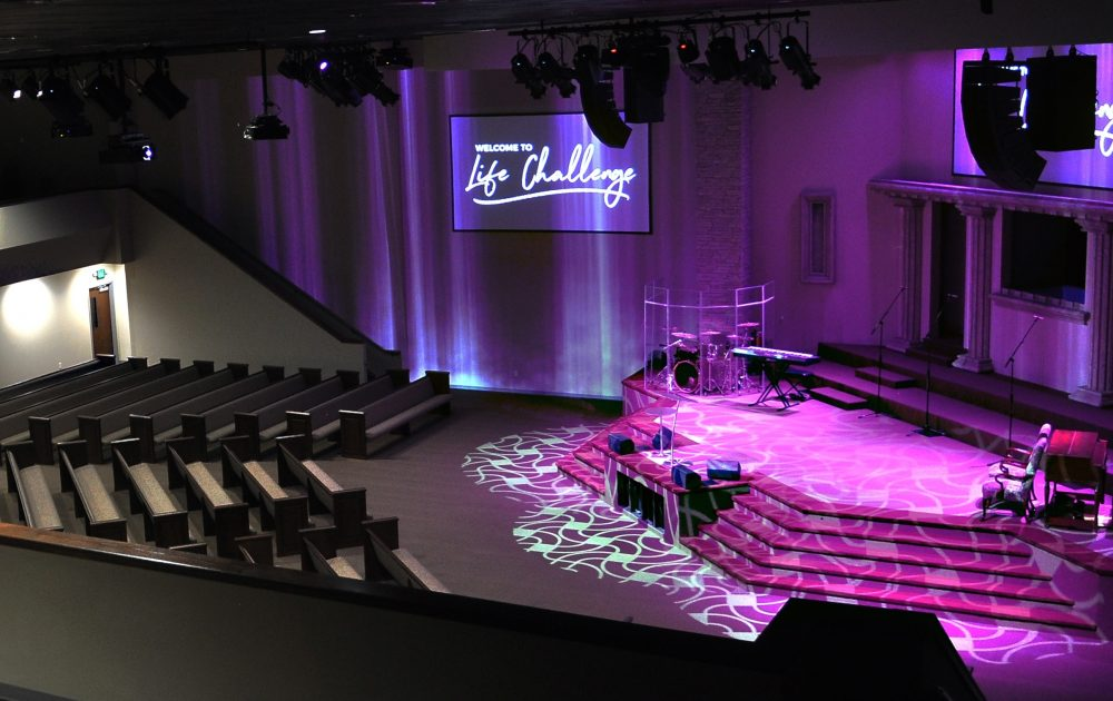 Adamson IS-Series audio system at Life Challenge Church, Odessa, TX