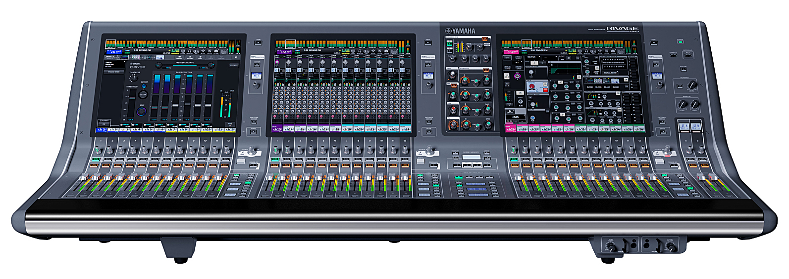 "The 93-pound CS-R5 control surface sports three 15"" capacitive touch screens and a more compact Selected Channel section"