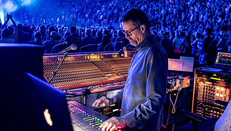 UltraSound's Derek Featherstone at the FOH position (Photo by Jay Blakesberg)