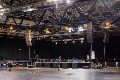 The system setup in Stuttgart Arena