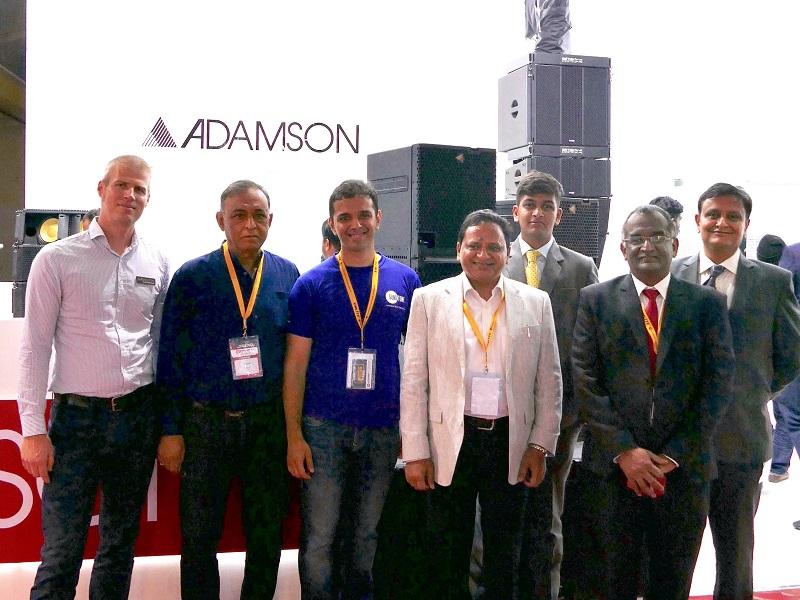(L-R) Adamson's David Dohrmann; Sonotone's B.V. Nagpal; Sonotone's Karan Nagpal; Vardhaman's Kaushal Garg; Vardhaman's Jeff Mandot; AVCL's Sushil John & Vardhaman's Dinesh Mandot