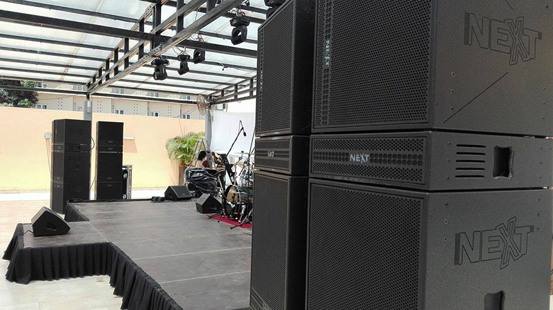 Patio Luandau0027s New NEXT Proaudio System Starts With Eight PXH64 Speakers  And 16 PXL118 18