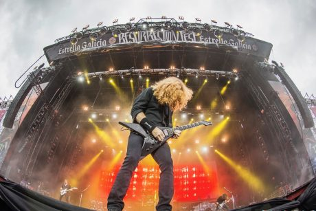 Megadeth on the main stage at Spain's Resurrection Fest with Adamson E-Series audio system
