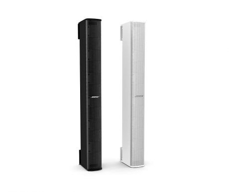 Bose Panaray® MSA12X Modular Steerable Array Loudspeakers, pictured in black and white finishes