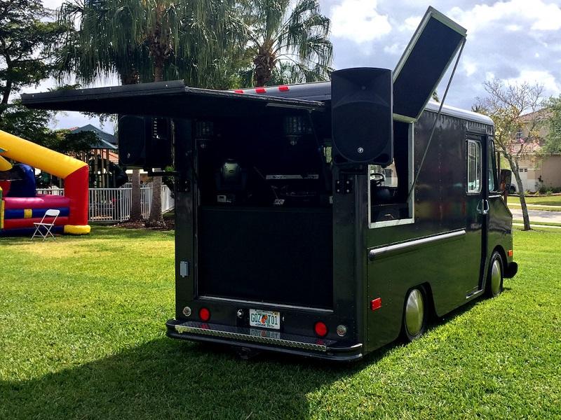 BASSBOSS VS21 Subwoofer Installed In Mobile DJ Truck FOH