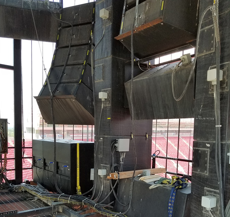 RCF Boosts Sound at Arrowhead Stadium in Kansas City « FOH | Front