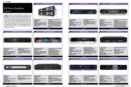 FRONT of HOUSE Buyers Guide, Dec 2017, DSP Power Amplifiers