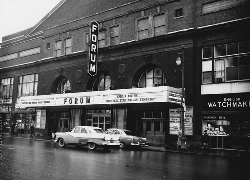 Montreal Forum back in the day