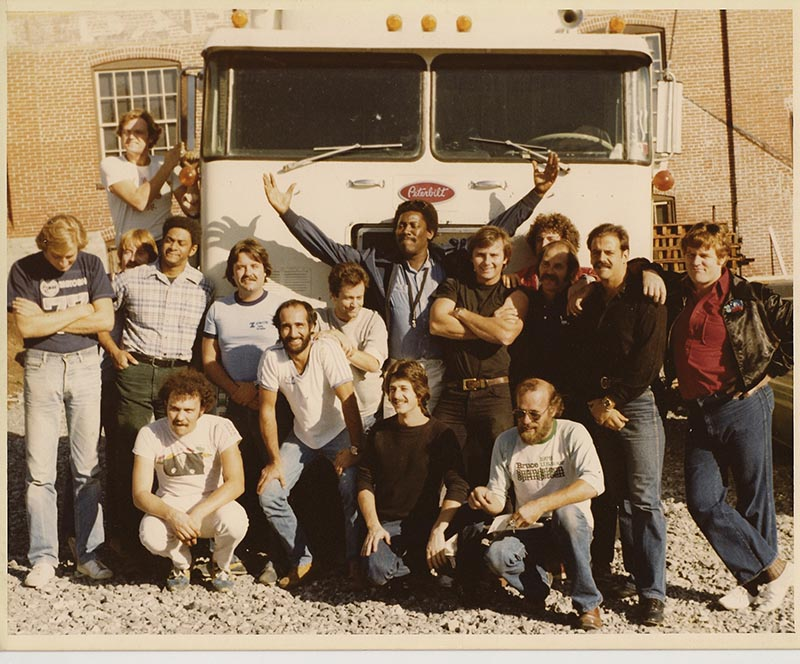 The crew for Bruce Springsteen's 1980 The River tour.