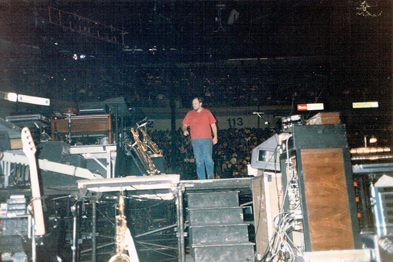 Boomer on Springsteen's stage, 1981