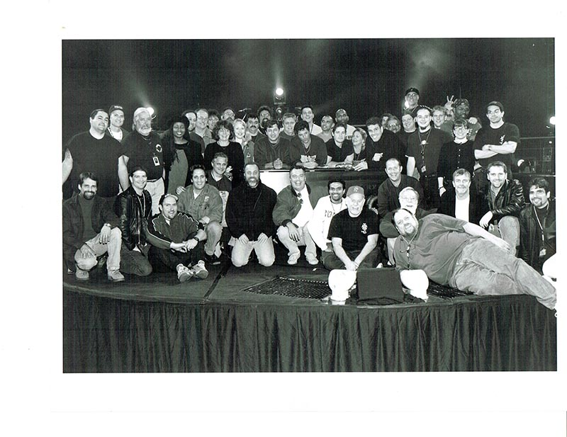 The crew for Billy Joel's 1998-1999 Storm Front Tour