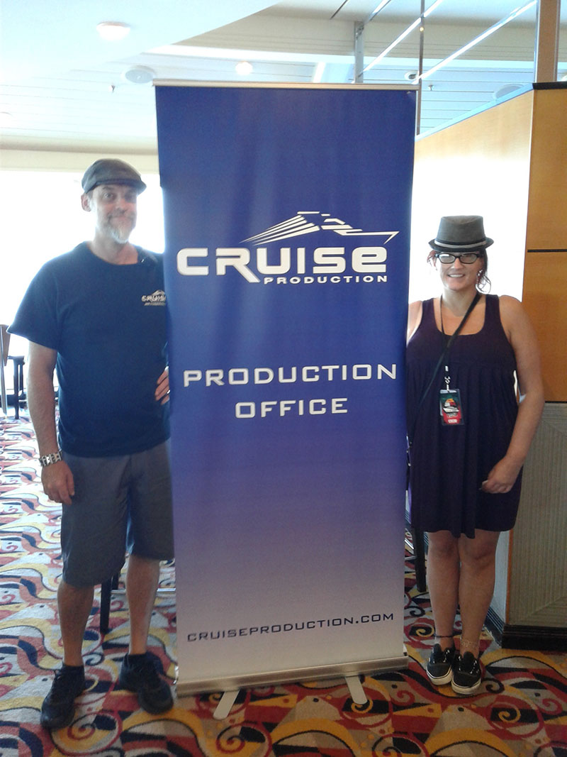 Jesse Launder and Dana Stone with Cruise Production