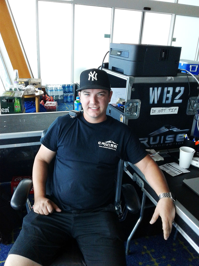 Kyle Connors, Assistant Production Manager, Cruise Productions
