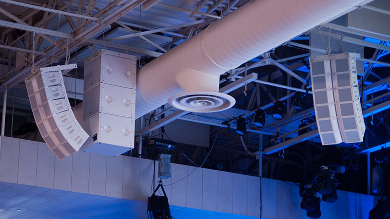 All gear — from the L-Acoustics Kara elements to the cables — needed to have a white finish