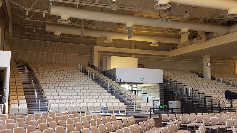 LA4X amplifiers and Symetrix Edge processing ensure even coverage within the 3,000-seat space.