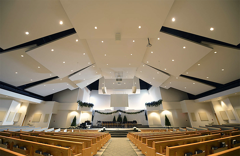 CrossRoad Baptist Church received upgrades of both acoustics and the audio system.