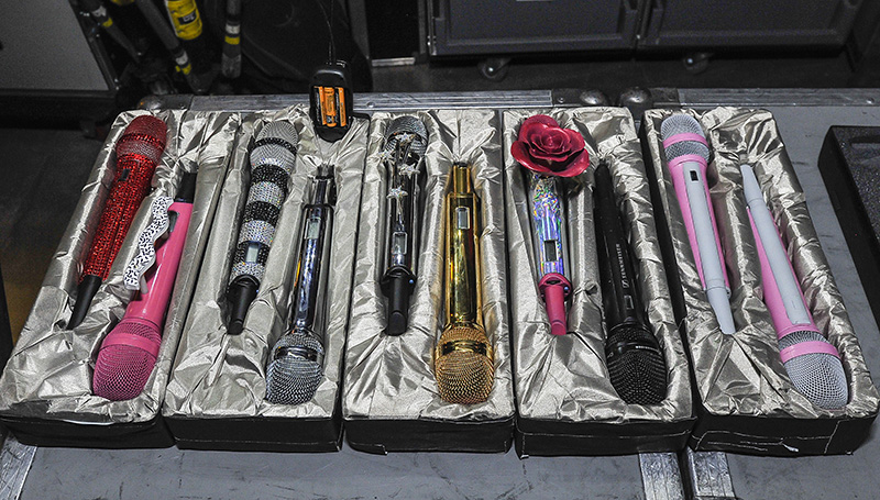 KATY PERRY   SENNHEISER MICS by Steve Jennings