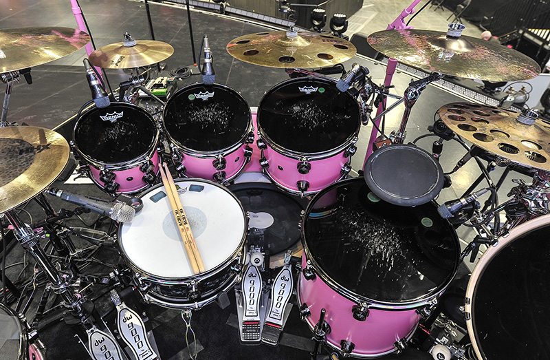 KATY PERRY   DRUM MICS ON SNARE  TOMS by Steve Jennings
