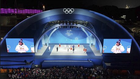 The Medals Plaza stage within the PyeongChang Olympic Plaza is reinforced by an EAW Adaptive system.