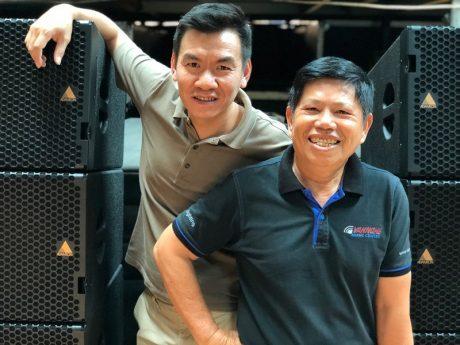 (L-R) Mr. Nguyen Duc Cuong, Van Lam Audio Equipment Owner & Mr. Hieu Van Nghe, Van Nghe Music Center Owner