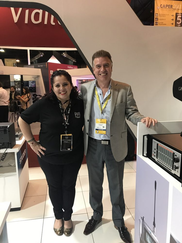 (left to right): Martin Audio's Berenice Gutierrez and ARS Technologies' Ricardo Pousa.
