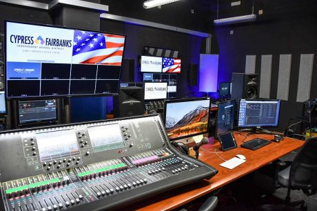 Berry Center production room with Allen & Heath dLive S7000 Surface