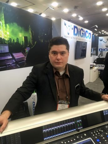 Chris Russell, Group One Limited's new sales and support associate for DiGiCo