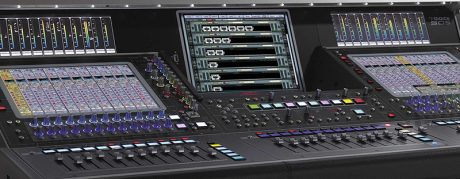 The DiGiCo SD5 console with Waves Soundgrid integration.