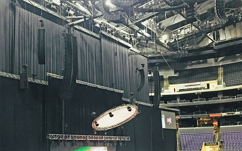 The setup for the comedian's Jan. 26 gig at Staples Center