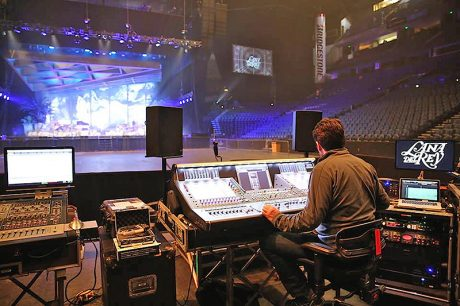 FOH engineer Kevin Madigan at the DiGiCo SD-5.