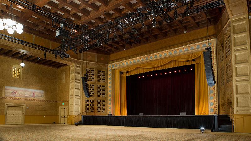 Interior of the 9,000 square-foot Kridel Grand Ballroom.
