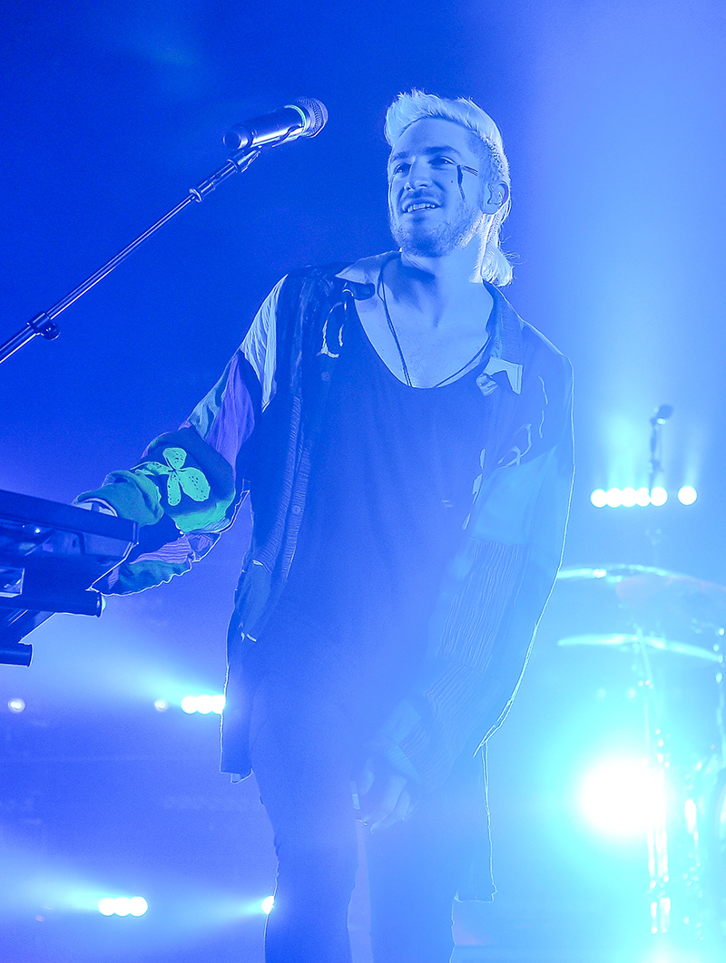 WALK THE MOON NICK PETRICCA 4 by Steve Jennings