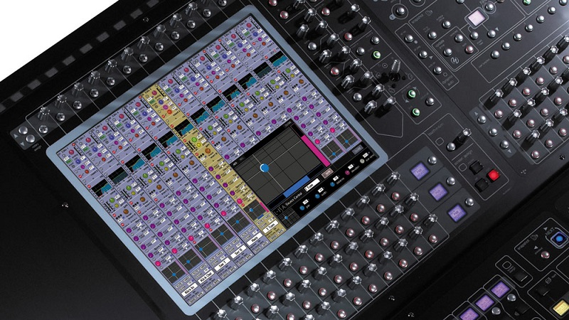 L-ISA's object-based mixing technology integrated into a DiGiCo SD-Series console's control surface