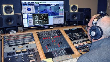 """Brian Yaskulka works on the mix for """"Elton John - Farewell Yellow Brick Road: The Legacy (VR360)"""" using Waves Nx – Virtual Mix Room over Headphones"""