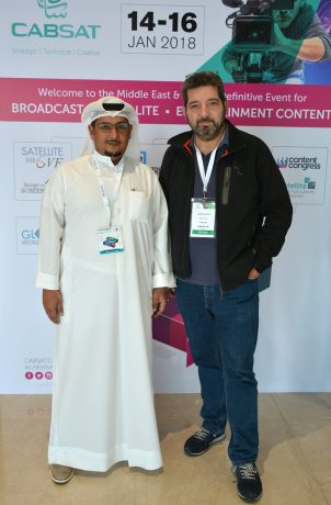 Ali H. Al Roumi, Managing Director at Romco, and Alexander Nemes, Head of Sales at Stage Tec