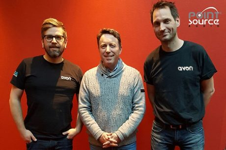 (L-R) Avon Sound Installation owner Edgar Andraa Lien, Point Source Audio President James Lamb, and Tor Erik L Johansen, CEO/Owner, Avon Live Oslo AS