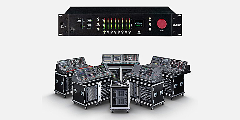 Yamaha RIVAGE V4 supports the RND RMP-D8