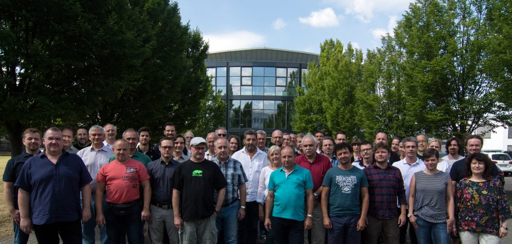 The team of Stage Tec celebrates its 25th anniversary.