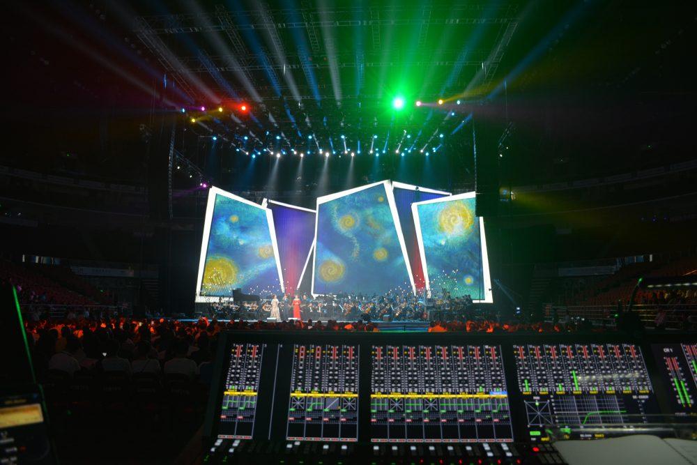 • Stage Tec's AURUS platinum as FOH console at CCTV-Event