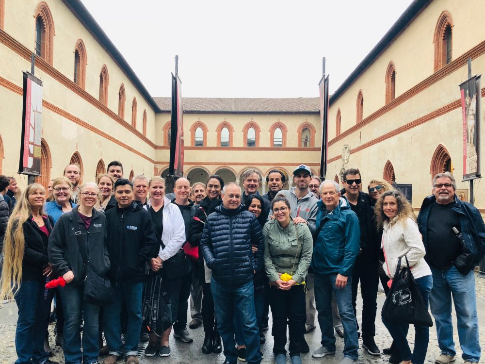 RCF rep trip at Sforza Castle in Milan