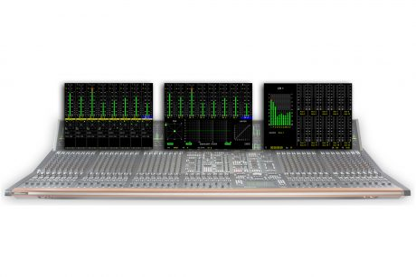 Stage Tec's console AURUS platinum and 3D audio metering screenshots