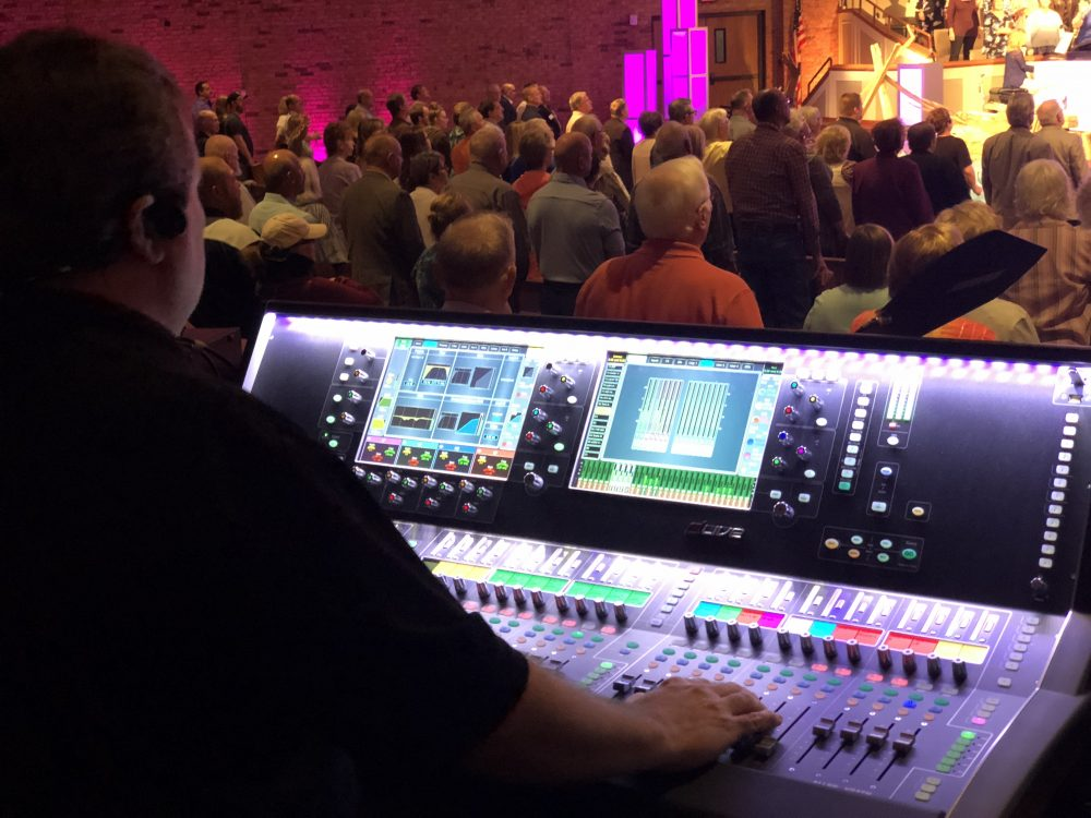 • An Allen & Heath dLive S7000 control surface is used with an average of 80 inputs at the First Baptist Church of Arnold.