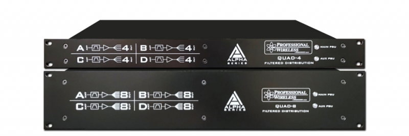 Professional Wireless expands introduces the Alpha Series spearheaded by the new Alpha 4-Zone Filtered Distro