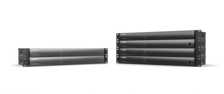 New Bose ControlSpace commercial sound processors (left) and engineered sound processors (right).