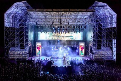 Caparezza Performing at Villafranca di Verona with dBTechnologies VIO L212 Line Arrays