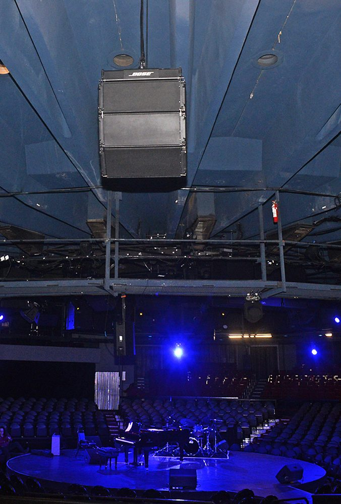 Celebrity Theatre in Phoenix, featuring a ShowMatch DeltaQ line array loudspeaker system. Photo © 2018 Keith Sparbanie.