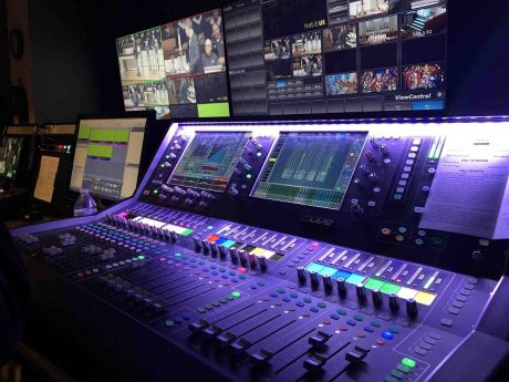 Custer Road UMC's Broadcast Room with Allen & Heath dLive S5000
