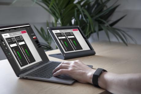 Custom Control editor being used to configure the Custom Control app