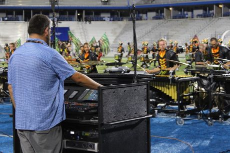 For the Crown organization, JSS designed, provided, and built a stereo (Left/Right) NEXO/Yamaha sound reinforcement system with custom carts for the stadium competition.