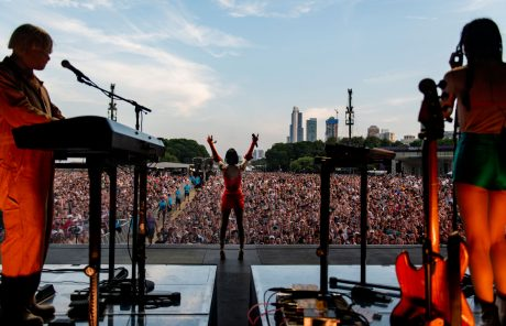 St. Vincent performing at this year's Lollapalooza in Chicago (photo credit: Charles Reagan Hackleman)